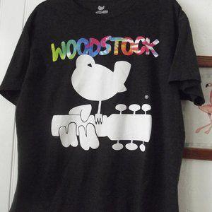 Woodstock T Shirt Size Large  Gray & Tie Dye